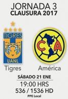 Tigres Vs America 21 de enero 2017